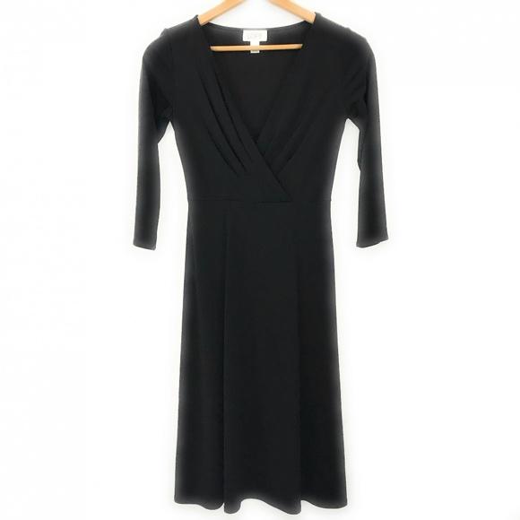 LOFT Dresses & Skirts - Loft Womens Midi Black Dress, Size 4